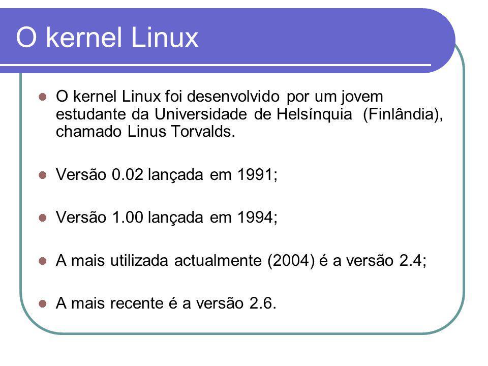 Login / Utilizadores Como o Linux é um SO com capacidades de multi- utilizador, é necessário que se faça um login; Elementos necessários: Nome do utilizador; Password.