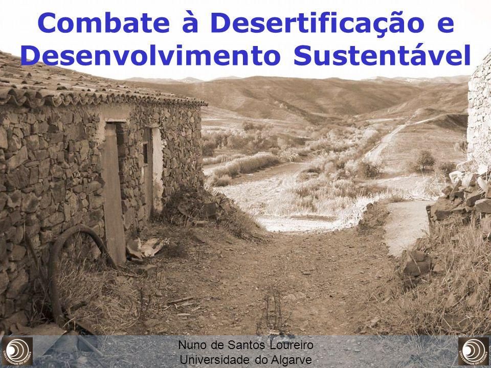 Combate à Desertificação e Desenvolvimento Sustentável ALGARVE Verões de 2003 e 2004 20% da área atingida pelo fogo 40% da área florestal destruída dinâmicas… 1986 1996