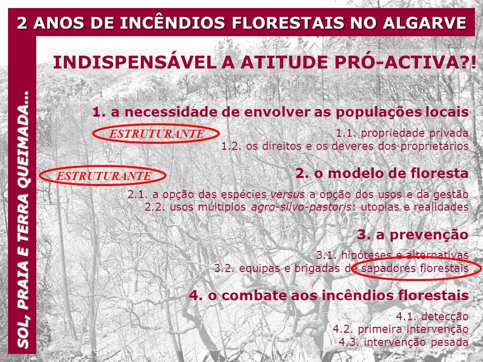 2 ANOS DE INCÊNDIOS FLORESTAIS NO ALGARVE SOL, PRAIA E TERRA QUEIMADA… INDISPENSÁVEL A ATITUDE PRÓ-ACTIVA?! 1. a necessidade de envolver as populações