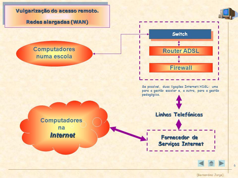 (Bernardino Jorge) 6 Vulgarização do acesso remoto.