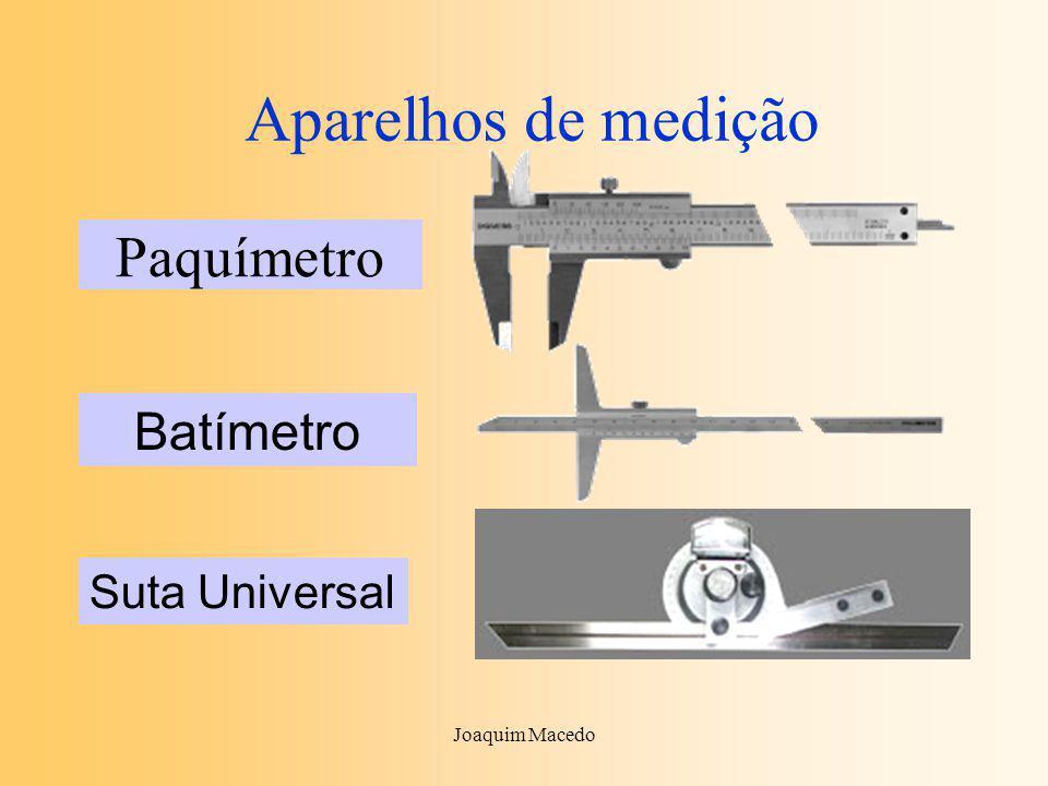 Joaquim Macedo Aparelhos de medição Paquímetro Batímetro Suta Universal