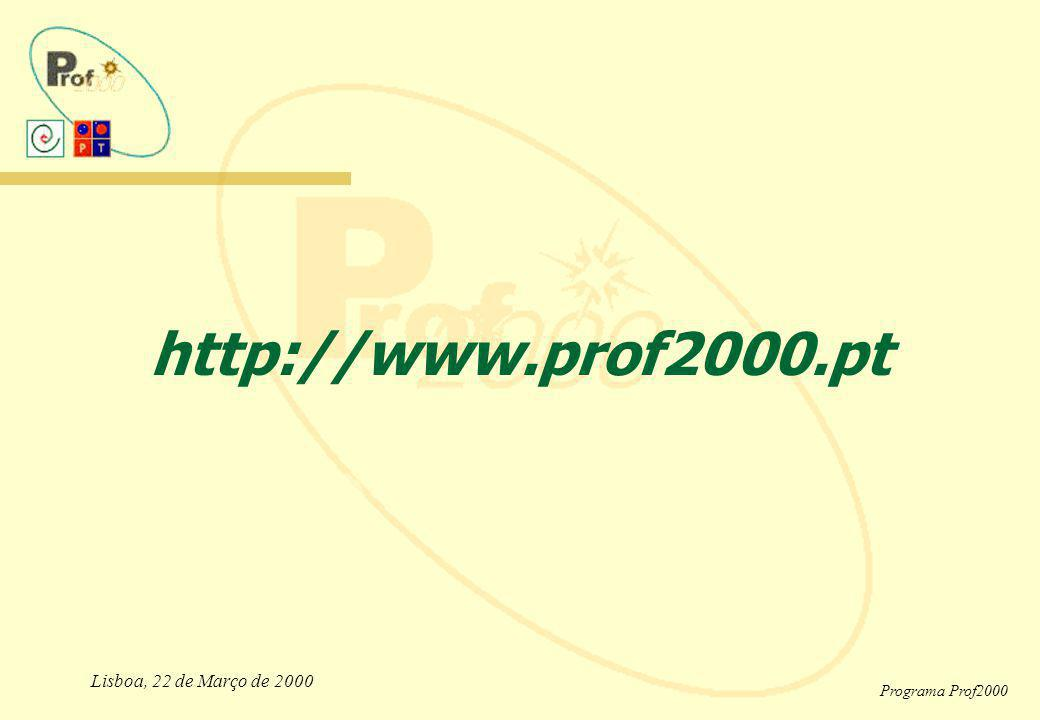 Lisboa, 22 de Março de 2000 Programa Prof2000 http://www.prof2000.pt