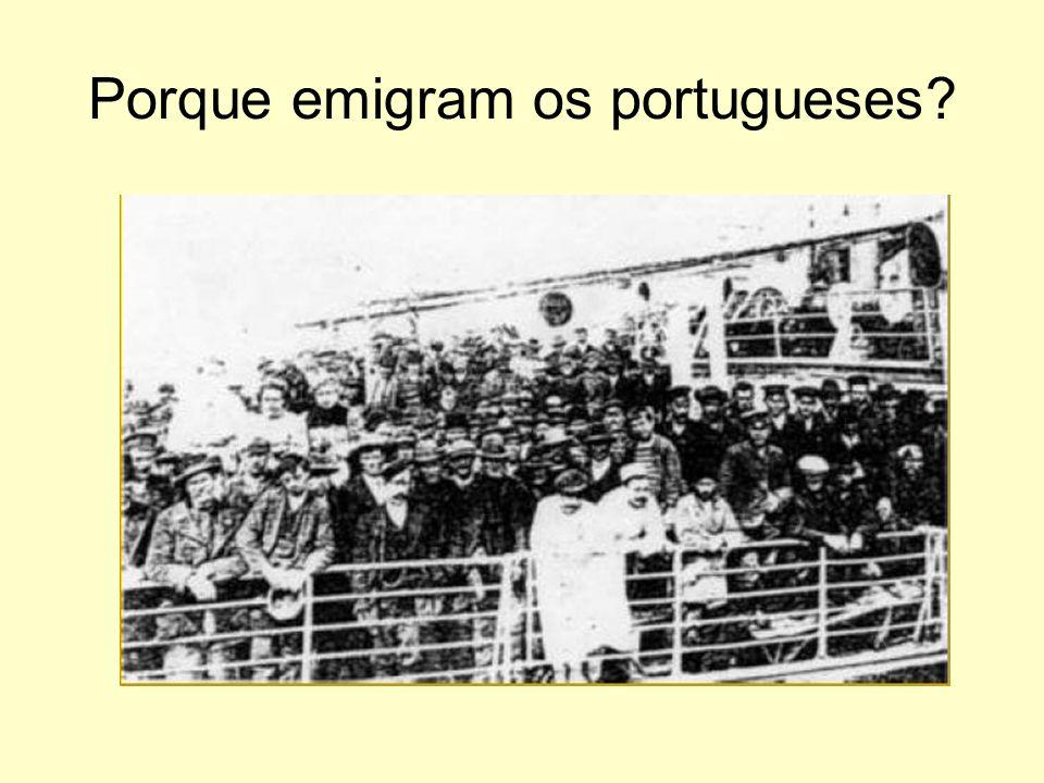 Porque emigram os portugueses?