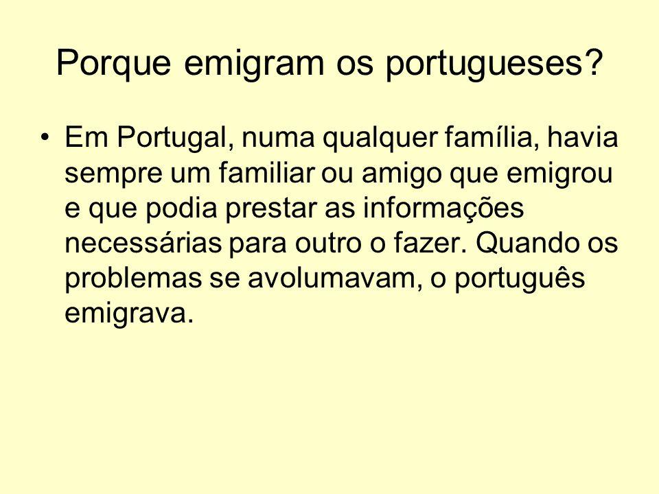 Porque emigram os portugueses.