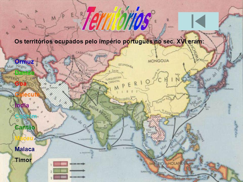 Colonização Produtos Palavras de origem asiáticas Organização do Comércio Contactos Bibliografia territórios