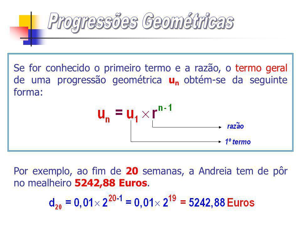 É possível encontrar o termo geral para esta progressão geométrica.
