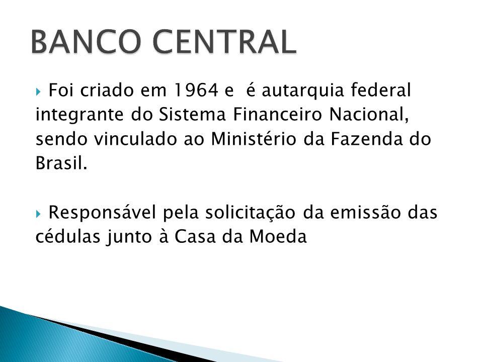 Foi criado em 1964 e é autarquia federal integrante do Sistema Financeiro Nacional, sendo vinculado ao Ministério da Fazenda do Brasil. Responsável pe