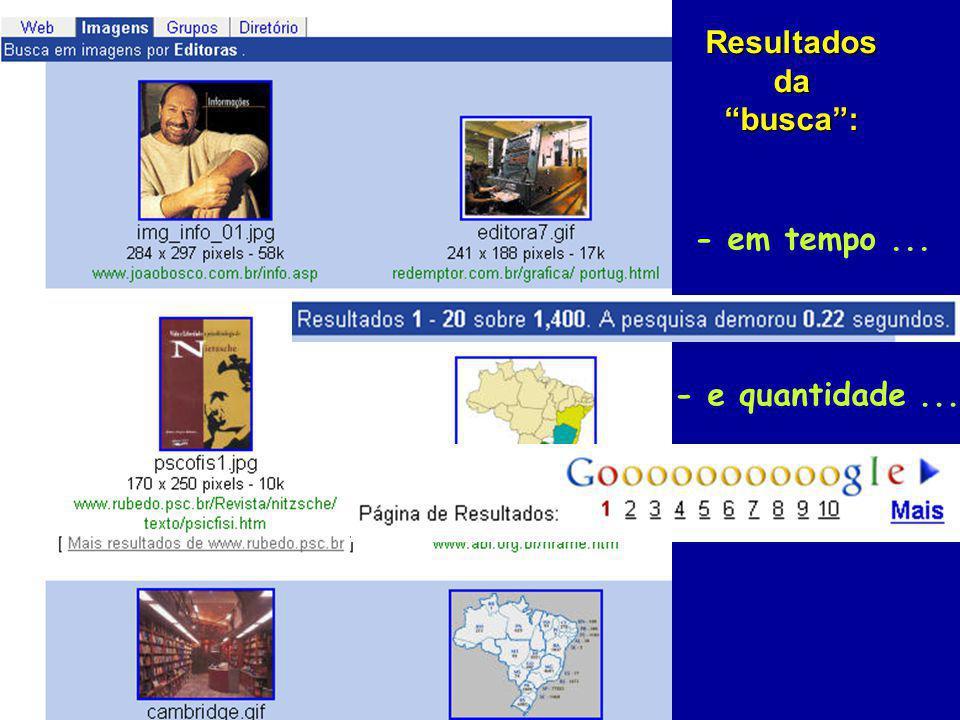 Resultados da busca: - e quantidade... - em tempo...