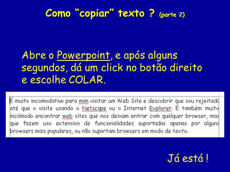 Como copiar texto .