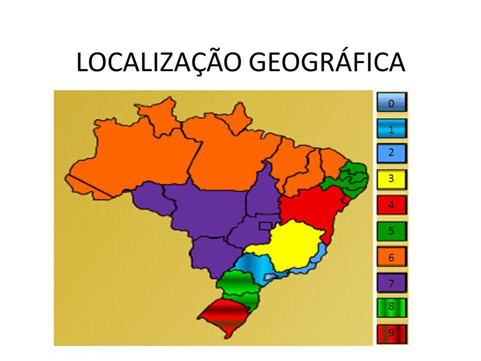 LOCALIZAÇÃO GEOGRÁFICA 0 1 2 3 4 5 6 8 7 9