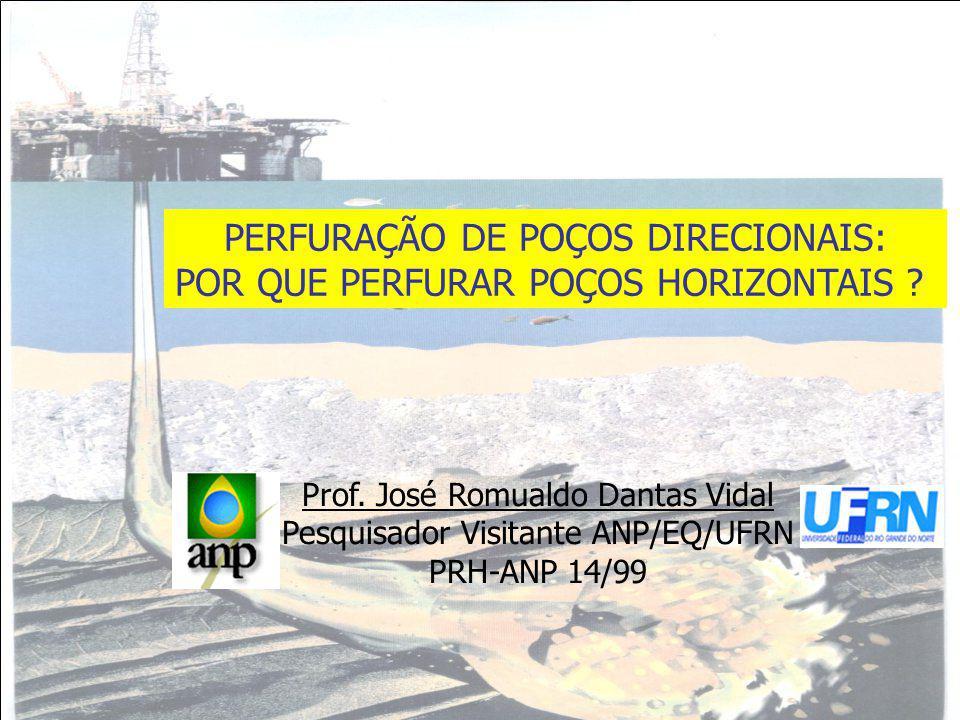 Prof. José Romualdo Dantas Vidal Pesquisador Visitante ANP/EQ/UFRN PRH-ANP 14/99 PERFURAÇÃO DE POÇOS DIRECIONAIS: POR QUE PERFURAR POÇOS HORIZONTAIS ?