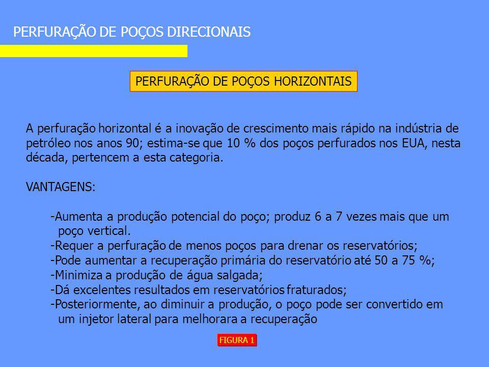 PERFURAÇÃO DE POÇOS DIRECIONAIS PERFURAÇÃO DE POÇOS HORIZONTAIS A perfuração horizontal é a inovação de crescimento mais rápido na indústria de petról