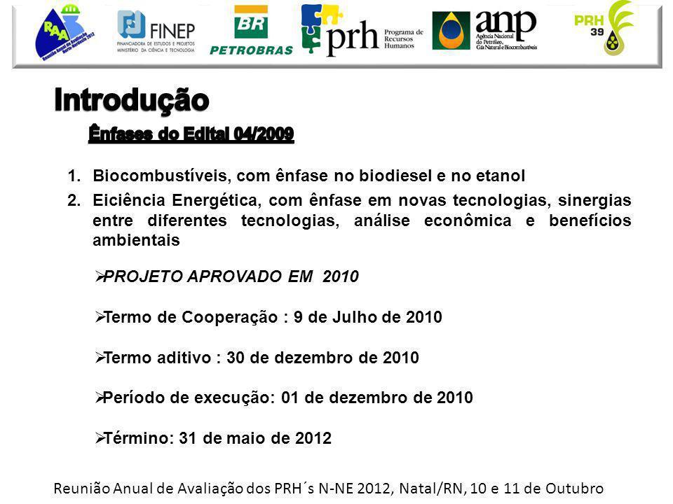 Reunião Anual de Avaliação dos PRH´s N-NE 2012, Natal/RN, 10 e 11 de Outubro