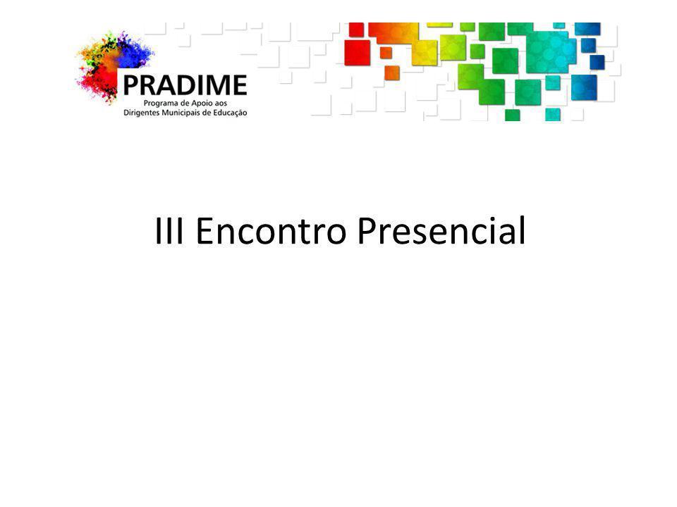 III Encontro Presencial