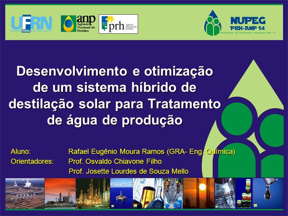 Desenvolvimento e otimização de um sistema híbrido de destilação solar para Tratamento de água deprodução Desenvolvimento e otimização de um sistema h