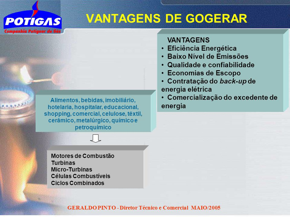 GERALDO PINTO - Diretor Técnico e Comercial MAIO/2005 Alimentos, bebidas, imobiliário, hotelaria, hospitalar, educacional, shopping, comercial, celulo