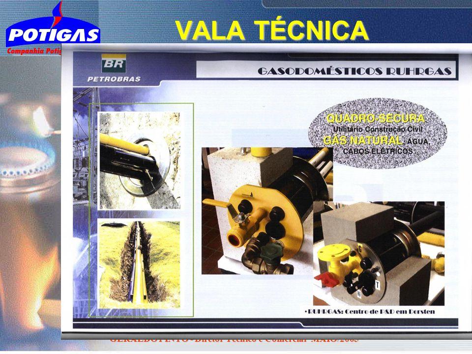 GERALDO PINTO - Diretor Técnico e Comercial MAIO/2005 VALA TÉCNICA