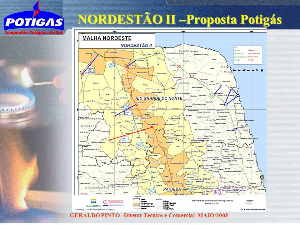 GERALDO PINTO - Diretor Técnico e Comercial MAIO/2005 NORDESTÃO II –Proposta Potigás