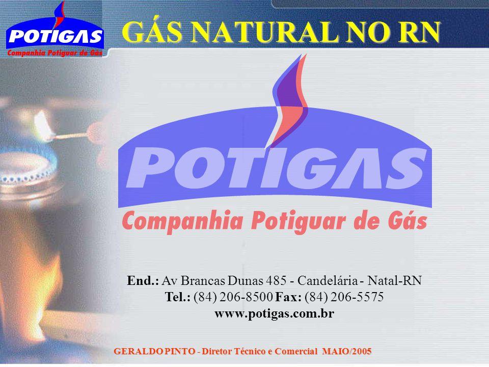 GERALDO PINTO - Diretor Técnico e Comercial MAIO/2005 End.: Av Brancas Dunas 485 - Candelária - Natal-RN Tel.: (84) 206-8500 Fax: (84) 206-5575 www.po