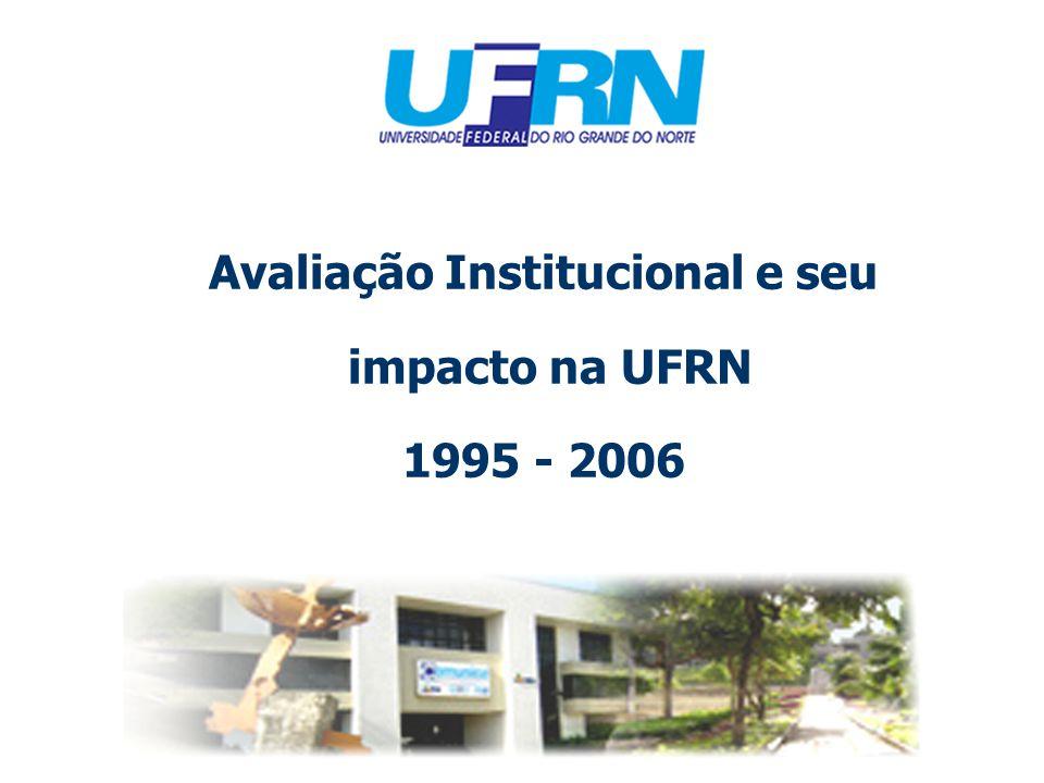 Avaliação Institucional e seu impacto na UFRN 1995 - 2006