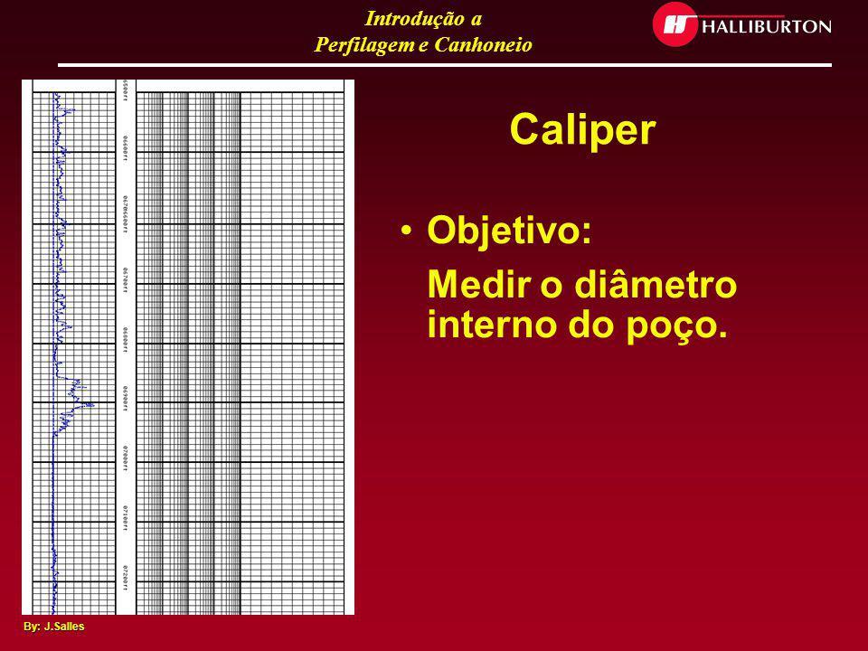 Introdução a Perfilagem e Canhoneio By: J.Salles Exemplo de Perfil de Poço Aberto
