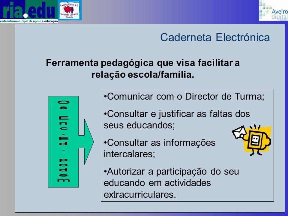 Caderneta Electrónica Ferramenta pedagógica que visa facilitar a relação escola/família.