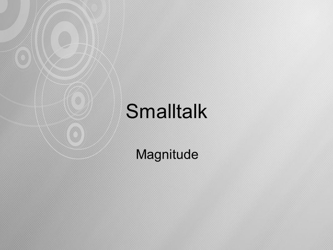 Smalltalk Magnitude