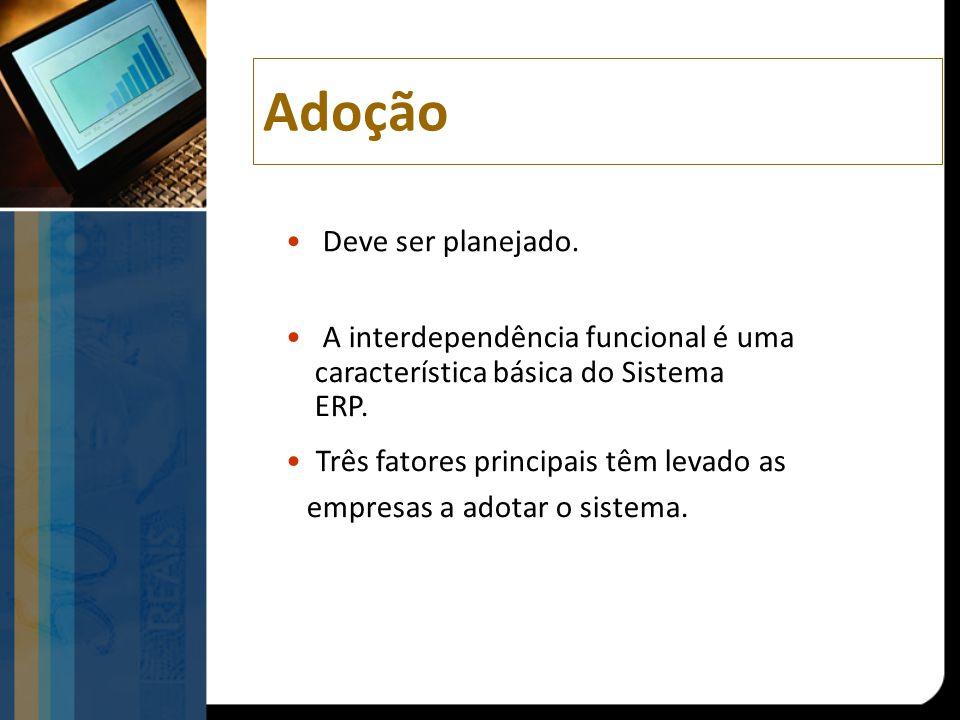 A interdependência funcional é uma característica básica do Sistema ERP.