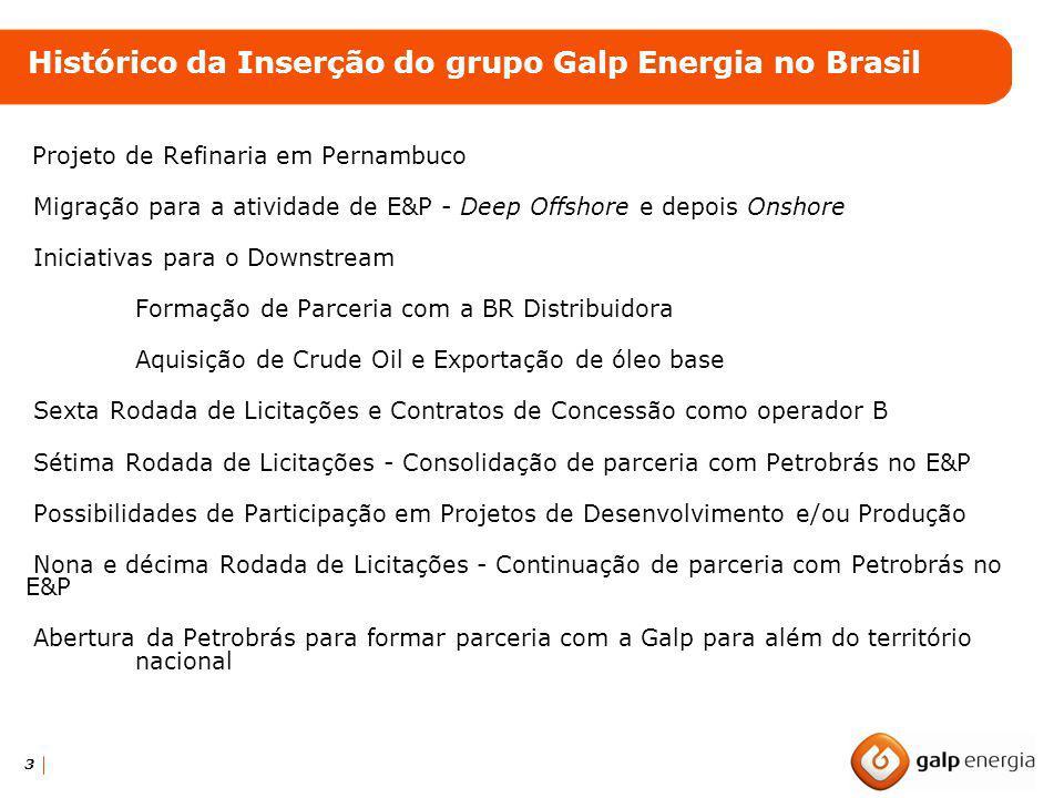 3 Projeto de Refinaria em Pernambuco Migração para a atividade de E&P - Deep Offshore e depois Onshore Iniciativas para o Downstream Formação de Parce