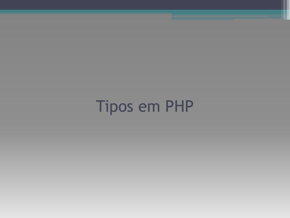 Tipos em PHP