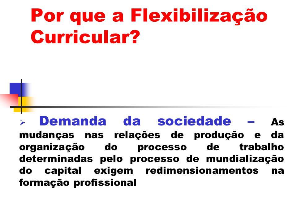 Por que a Flexibilização Curricular.