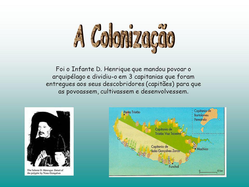 Foi o Infante D. Henrique que mandou povoar o arquipélago e dividiu-o em 3 capitanias que foram entregues aos seus descobridores (capitães) para que a