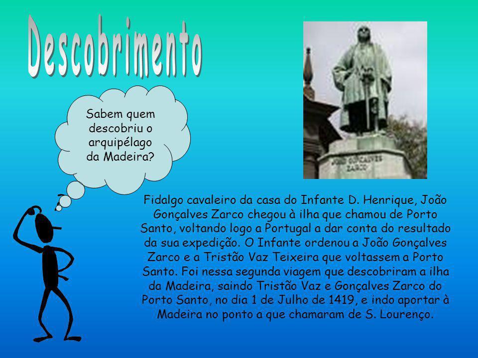 Sabem quem descobriu o arquipélago da Madeira? Fidalgo cavaleiro da casa do Infante D. Henrique, João Gonçalves Zarco chegou à ilha que chamou de Port