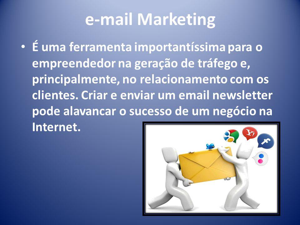 e-mail Marketing É uma ferramenta importantíssima para o empreendedor na geração de tráfego e, principalmente, no relacionamento com os clientes. Cria