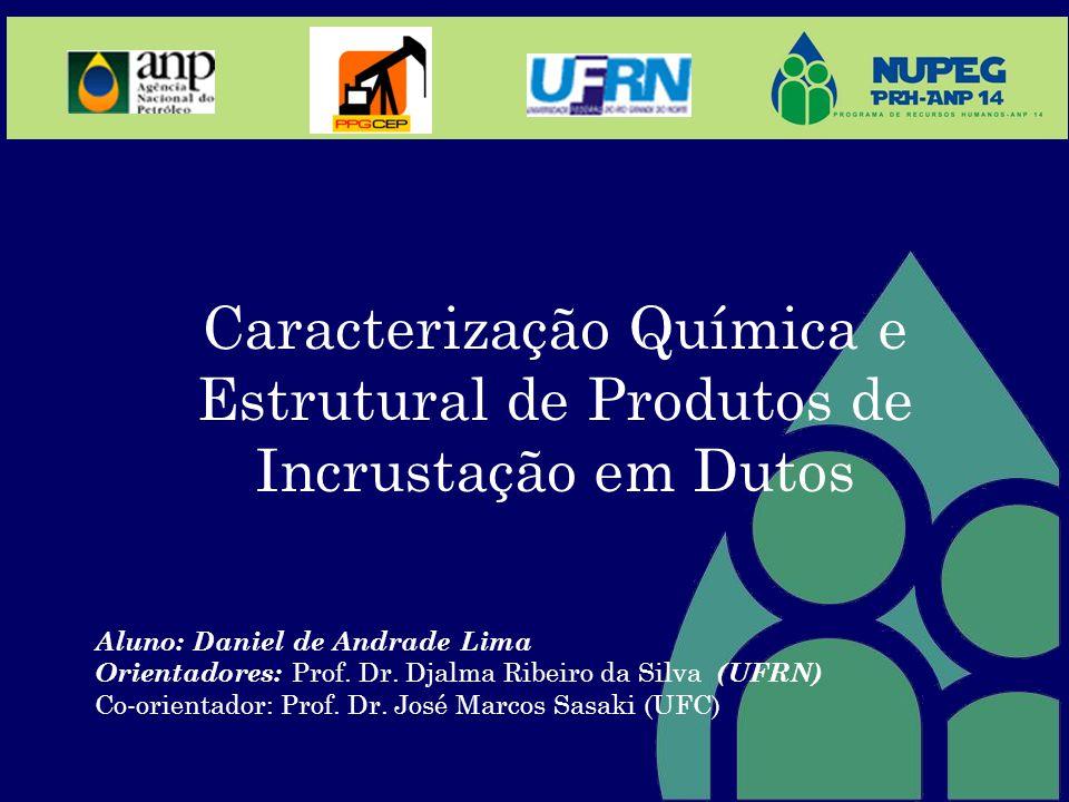 Caracterização Química e Estrutural de Produtos de Incrustação em Dutos Aluno: Daniel de Andrade Lima Orientadores: Prof. Dr. Djalma Ribeiro da Silva
