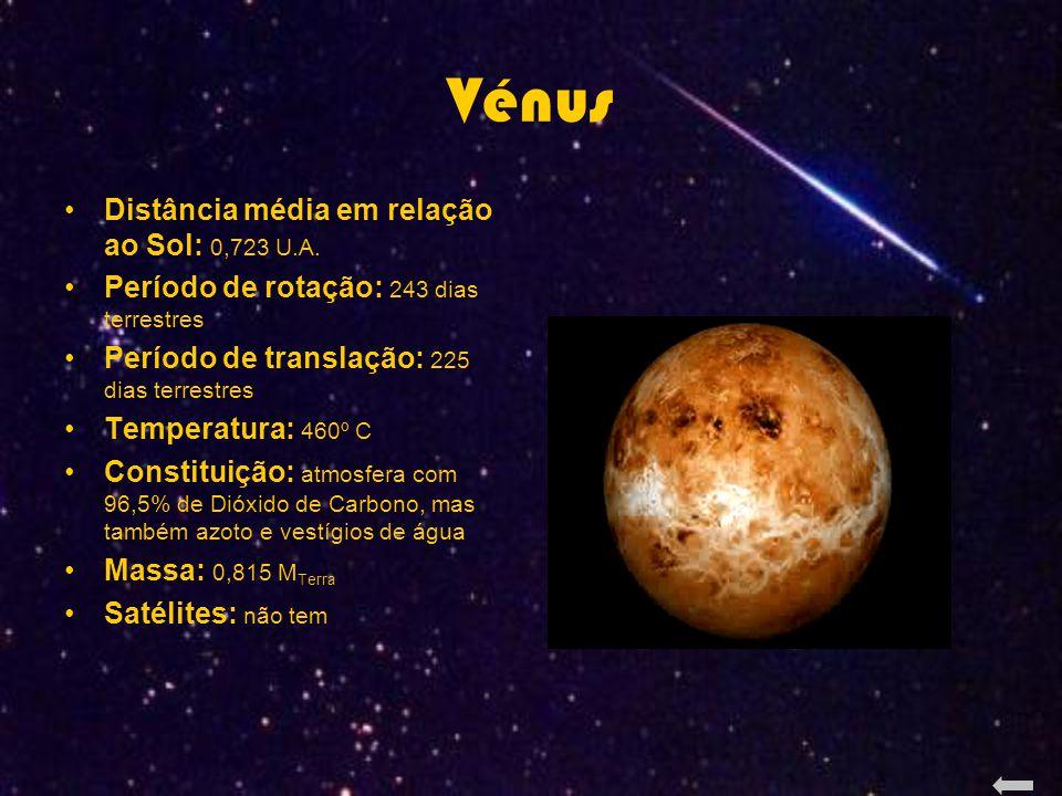 Vénus Distância média em relação ao Sol: 0,723 U.A.