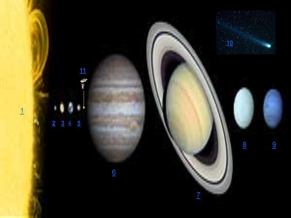 Júpiter Distância média em relação ao Sol: 5,2 U.A.
