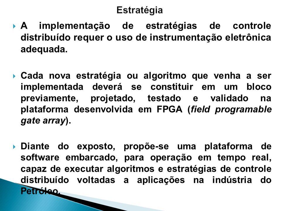 A implementação de estratégias de controle distribuído requer o uso de instrumentação eletrônica adequada. Cada nova estratégia ou algoritmo que venha