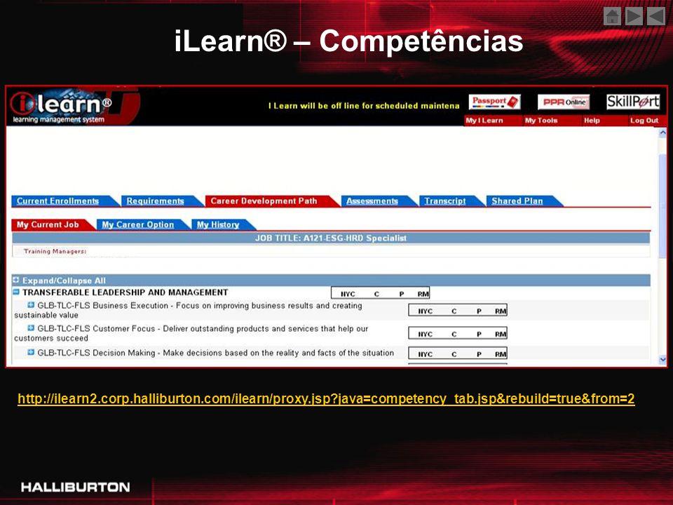 http://ilearn2.corp.halliburton.com/ilearn/proxy.jsp?java=competency_tab.jsp&rebuild=true&from=2 iLearn® – Competências