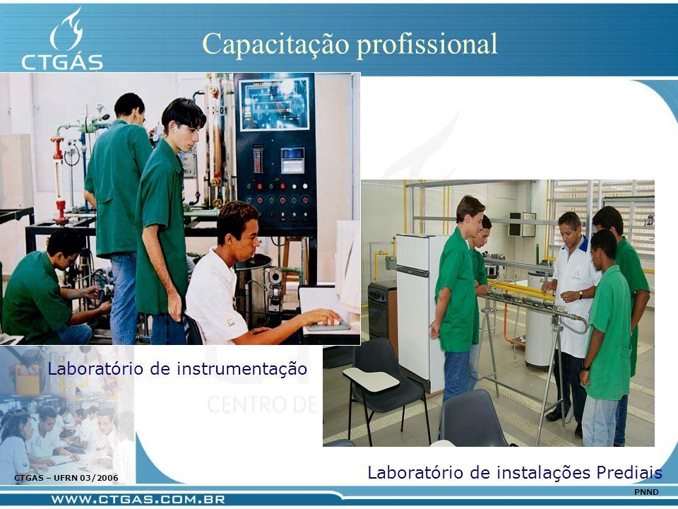 www.ctgas.com.br CTGAS – UFRN 03/2006 PNND Capacitação profissional Laboratório de instalações Prediais Laboratório de instrumentação