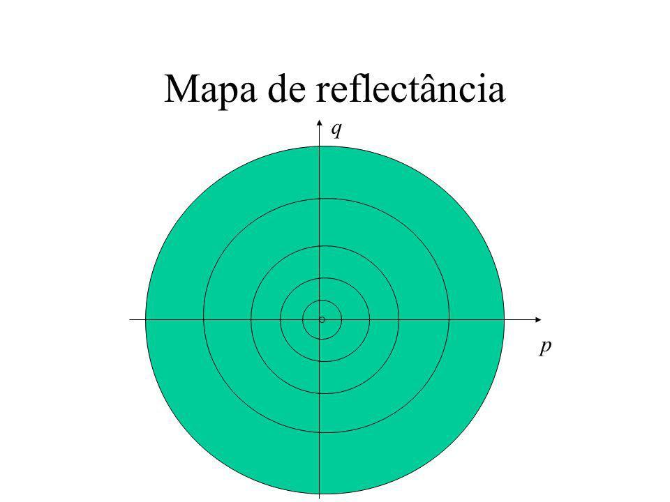 Mapa de reflectância p q