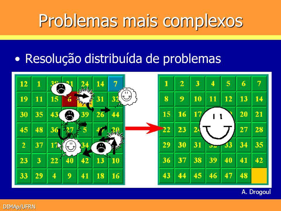 DIMAp/UFRN Problemas mais complexos Resolução distribuída de problemas A. Drogoul