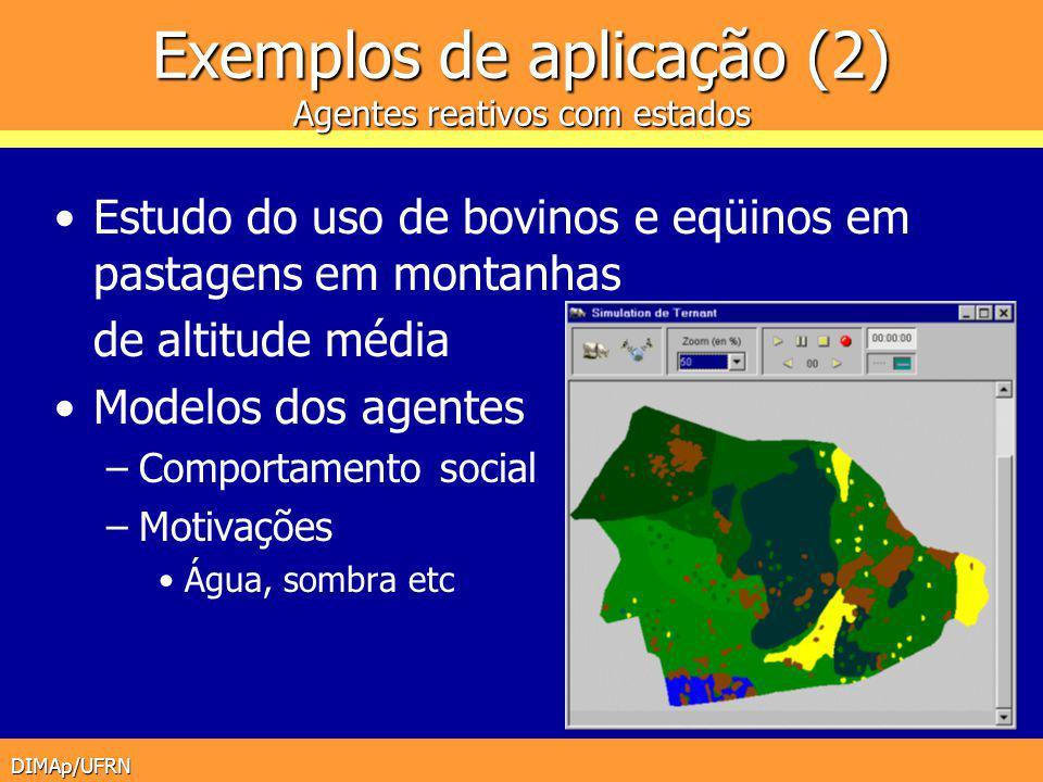 DIMAp/UFRN Exemplos de aplicação (2) Agentes reativos com estados Estudo do uso de bovinos e eqüinos em pastagens em montanhas de altitude média Model