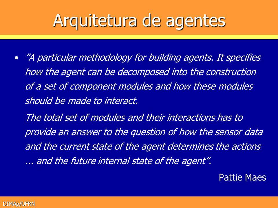 DIMAp/UFRN História das Arquiteturas Sistemas baseados em agentes I.A.