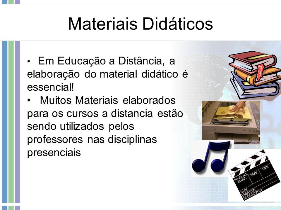 Materiais Didáticos Em Educação a Distância, a elaboração do material didático é essencial! Muitos Materiais elaborados para os cursos a distancia est