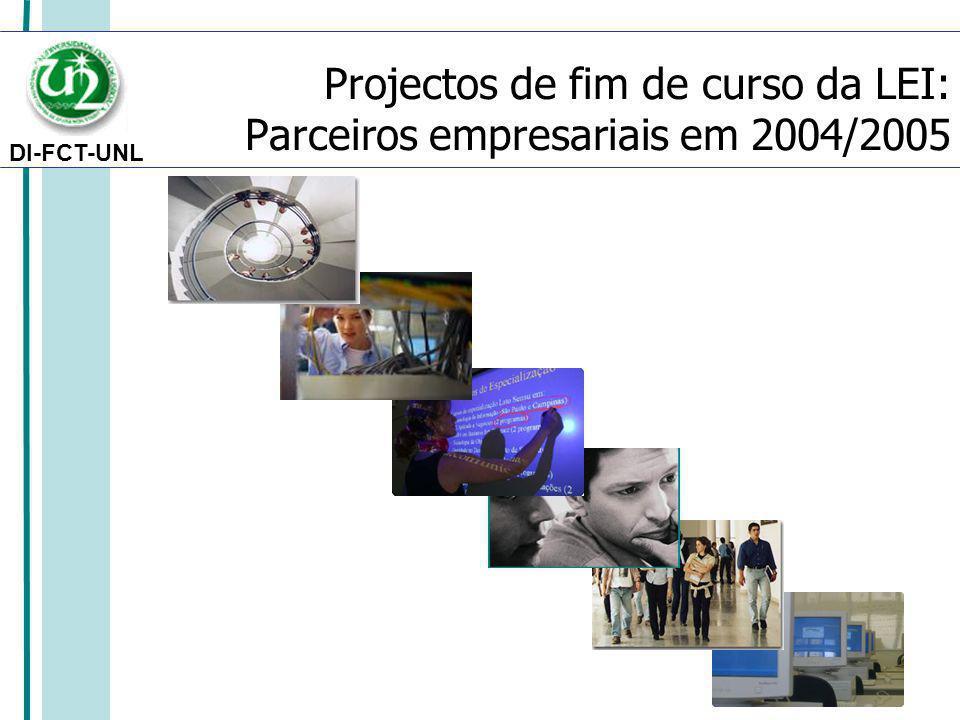 DI-FCT-UNL Projectos de fim de curso da LEI: Parceiros empresariais em 2004/2005