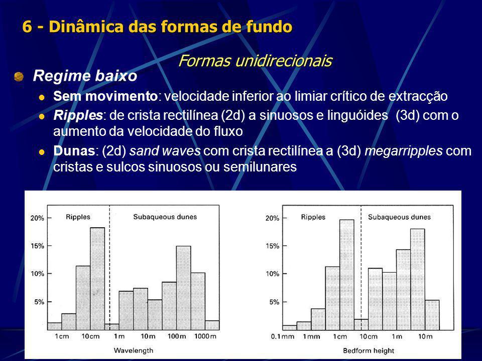 6 - Dinâmica das formas de fundo Formas unidirecionais