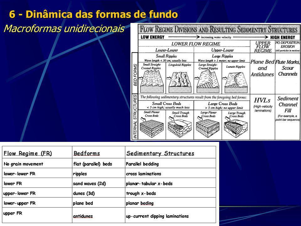 Macroformas unidirecionais 6 - Dinâmica das formas de fundo