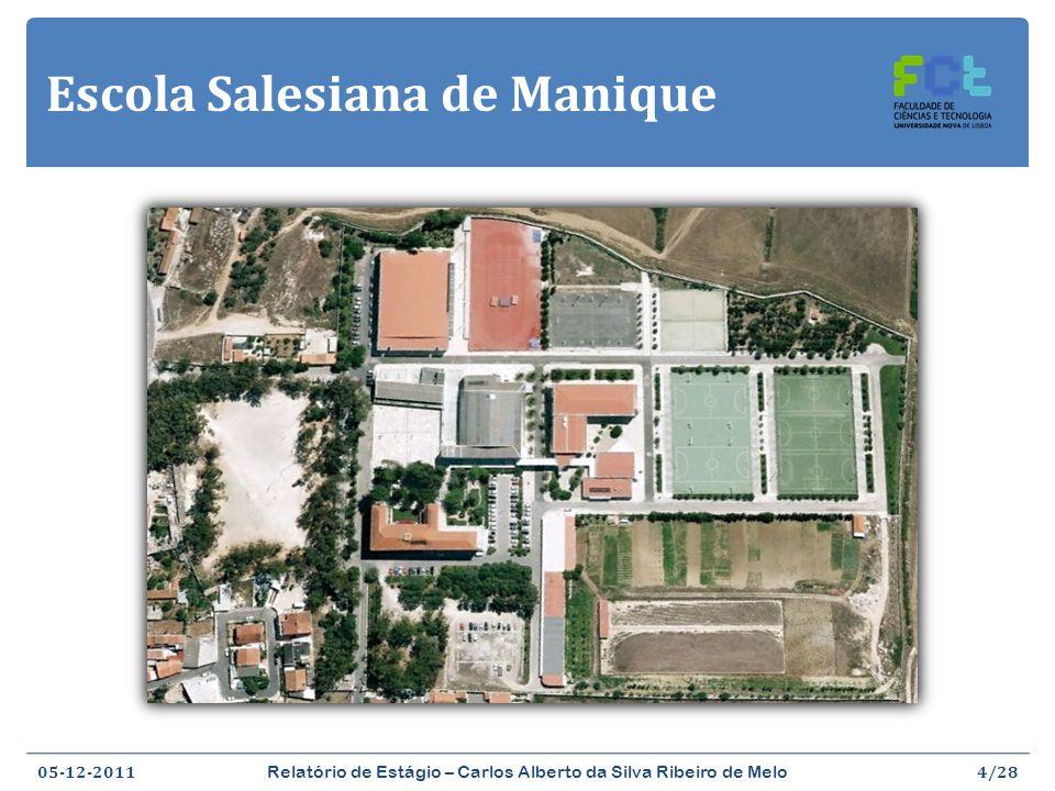 Escola Salesiana de Manique 05-12-2011 Relatório de Estágio – Carlos Alberto da Silva Ribeiro de Melo 4/28