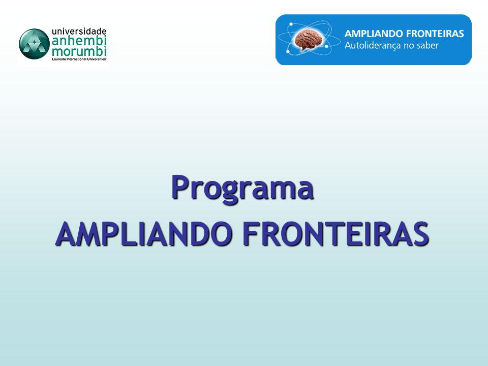 Observações Importantes A principal função do Ampliando Fronteiras é melhorar a base acadêmica, cultural e pessoal dos participantes, e não necessariamente certificar.